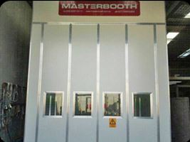 The Spray Painting Booth at Universal Coatings